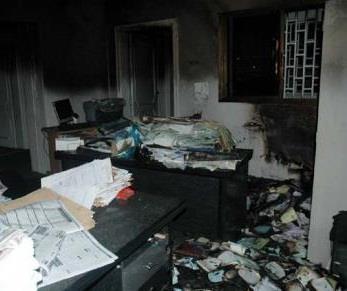 السيطرة على حريق نشب بمكتب عميد كلية التربية الرياضية بجامعة الزقازيق