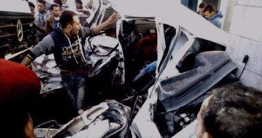 إصابة 20 شخصا في تصادم سيارتين بالطريق الإقليمي نزلة بلبيس