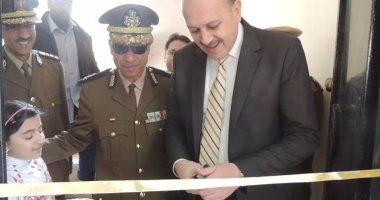 مدير أمن الشرقية يفتتح سجل مدنى بهنباى الفرعى