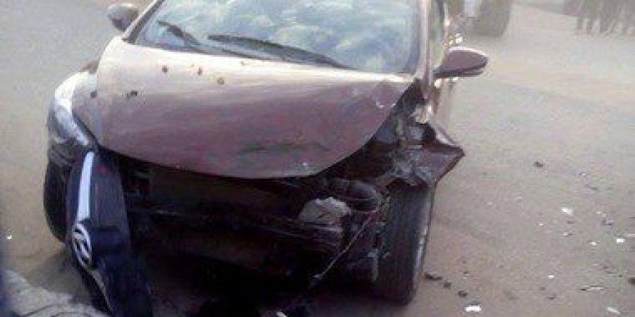 انقلاب 3 سيارات فى حادث تصادم في الشرقية