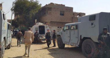 تبادل إطلاق نار بين قوات الأمن وعناصر خطرة بقرية أبو نجاح