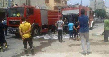 إصابة ضابط حماية مدنية وعامل أثناء إخماد حريق شب بمصنع بويات بالعاشر