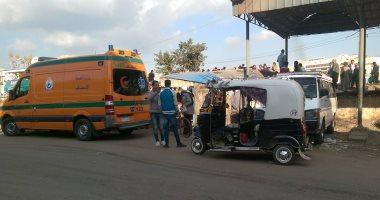 إصابة 7 أشخاص فى حادث انقلاب سيارة بالقرب من مزلقان ميت حمل ببلبيس