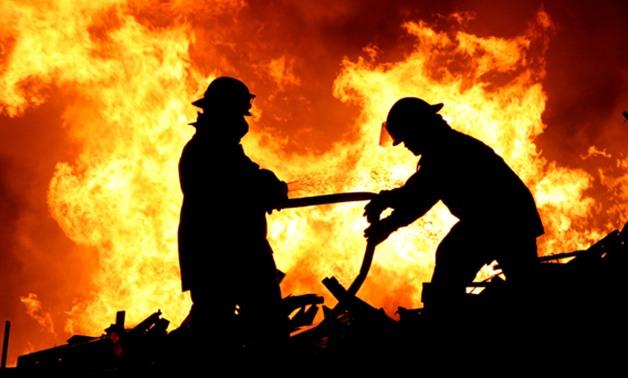 السيطرة على حريق هائل بمطعم في ديرب نجم